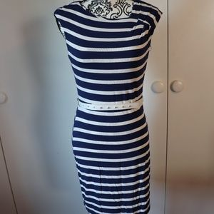 Calvin Klein Bodycon Striped dress